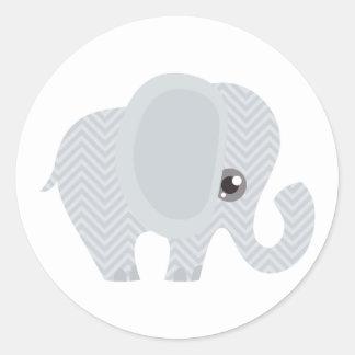 Beautiful Baby Neutral Elephant Round Sticker