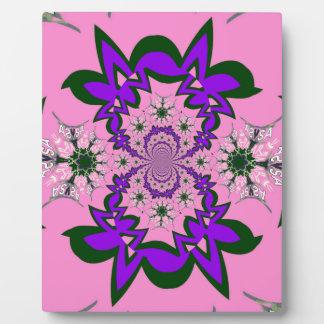 Beautiful baby pink floral purple shade motif mono plaque