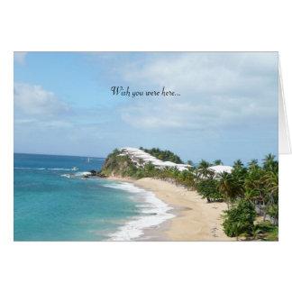 Beautiful beach... card