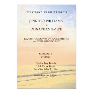Beautiful Beach Destination Wedding Invitations