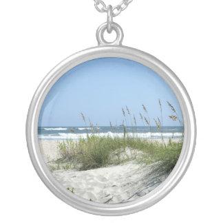 Beautiful Beach Round Pendant Necklace