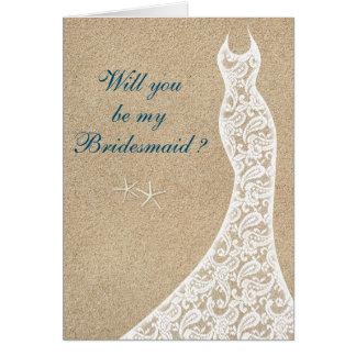 Beautiful Beach Will you be my Bridesmaid Card