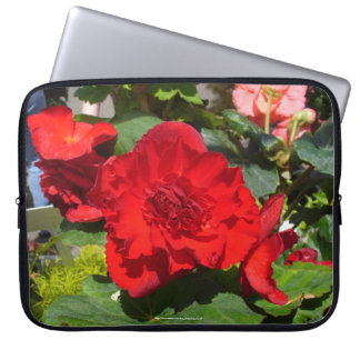Beautiful Begonias Neoprene Laptop Case