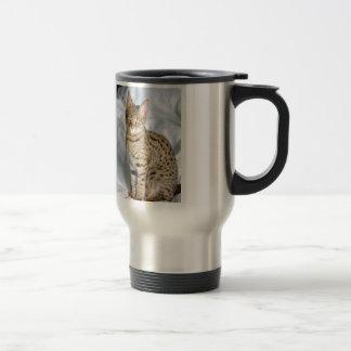 Beautiful Bengal Cute Cat Face Stainless Steel Travel Mug