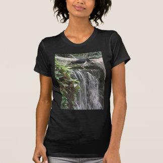 beautiful bird on waterfall t-shirts
