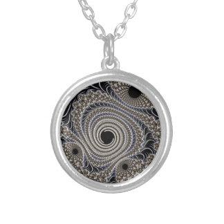 Beautiful Black&cream Fractal Lace twirls Custom Jewelry