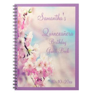Beautiful Blossom Quinceañera Birthday Spiral Note Books