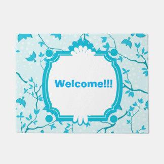 Beautiful Blue Birds Welcome Doormat