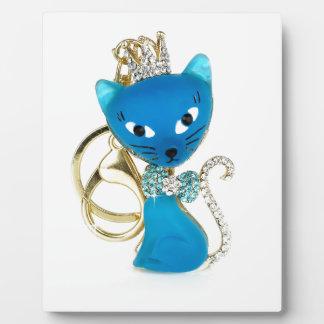 Beautiful blue cat design plaque