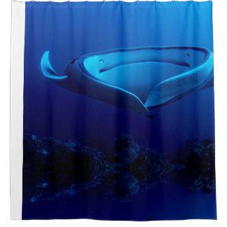 Beautiful Blue Giant Manta Ray Shower Curtain