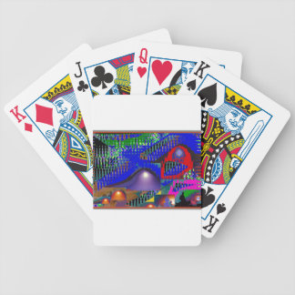 Beautiful Blue Moonshine Abstract Poker Deck