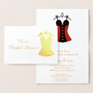 Beautiful Bridal Shower Foil Card