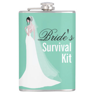 Beautiful Bride Survival Kit Hip Flask