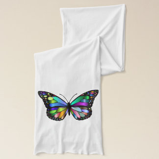 Beautiful Brightly Colored Butterfly Scarf Wrap