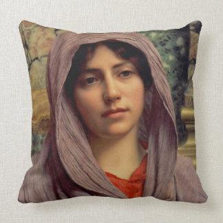 Beautiful Brunette 1918 Throw Pillow