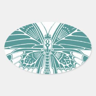 Beautiful Butterfly Oval Sticker