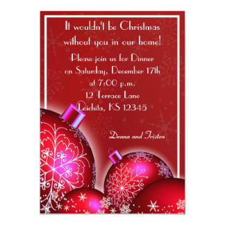 Beautiful Christmas Dinner Party Invitation
