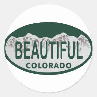 Beautiful Colorado license oval Classic Round Sticker