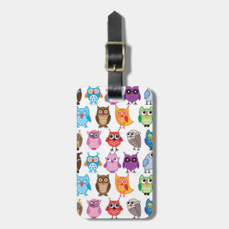 Beautiful Colorful Custom Owl Luggage Tag