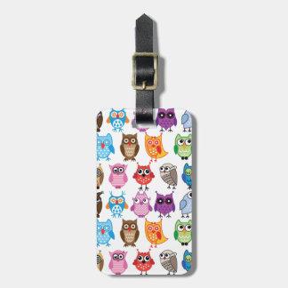Beautiful Colorful Custom Owl Luggage Tag