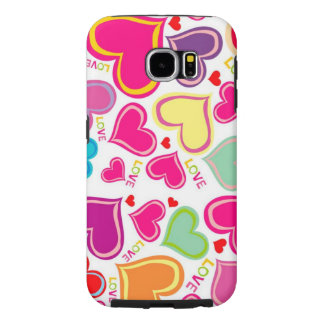 beautiful colorful love hearts samsung galaxy s6 cases
