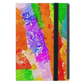 Beautiful Colourful Painted Paper Collage Cover For iPad Mini