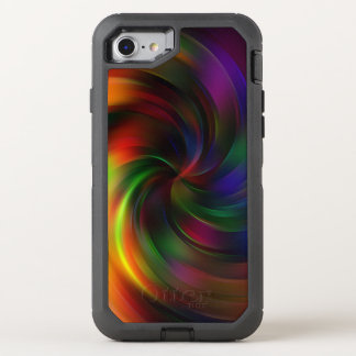 Beautiful colourful Swirl Pattern OtterBox Defender iPhone 8/7 Case