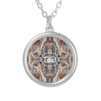 Beautiful Cream Bling Pattern Personalized Necklace