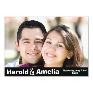 Beautiful customized photo wedding invitation card