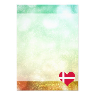 Beautiful Danish 13 Cm X 18 Cm Invitation Card