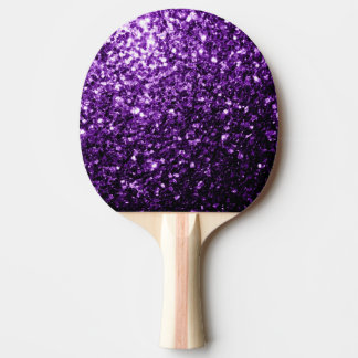 Beautiful Dark Purple glitter sparkles Ping Pong Paddle