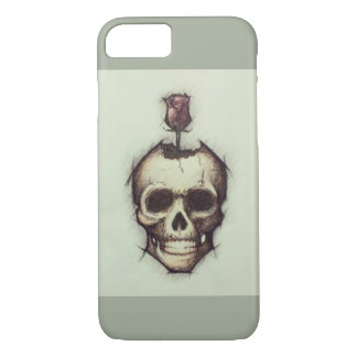 'Beautiful Decay' - Skull Rose T Shirt for Women iPhone 7 Case