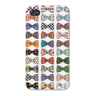 Beautiful Decorative BowTie Patterns iPhone 4 Case