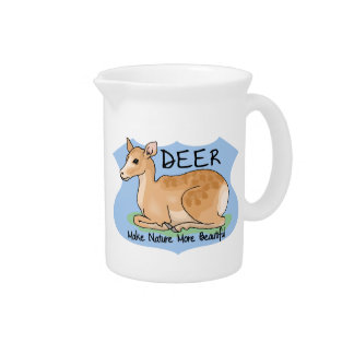 Beautiful Deer Pitcher