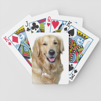 Beautiful Dog Golden Retriever and Your Bone Bicycle Playing Cards