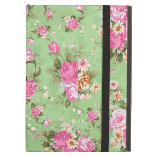 Beautiful elegant girly vintage roses flowers iPad air case