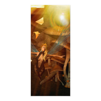 Beautiful elf flying in the sunset 10 cm x 24 cm invitation card