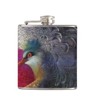 Beautiful Embroidery Phoenix Hip Flask