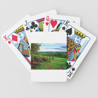 Beautiful English Countryside Bicycle Playing Cards