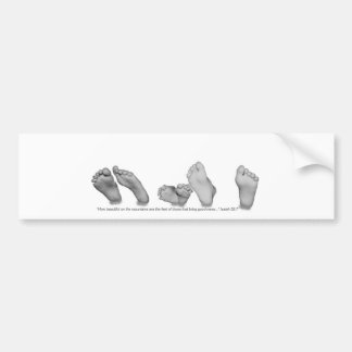 Beautiful Feet Bumper Sticker