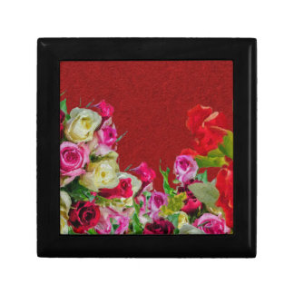 Beautiful Floral Abstract Red Gift Box