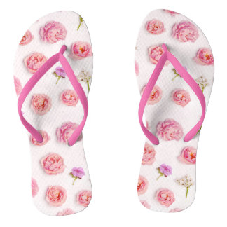 Beautiful floral composition jandals