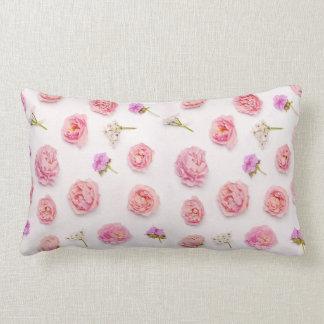 Beautiful floral composition lumbar cushion