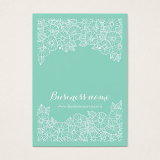 Beautiful Floral Mint Background Earring Cards
