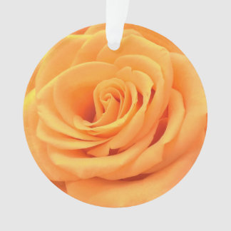 Beautiful floral photo ornament with orange rose