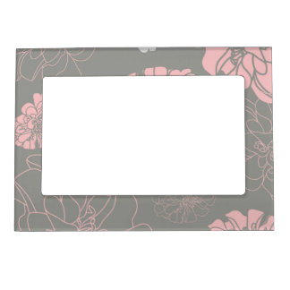 Beautiful Flower Floral Pattern Magnetic Frame
