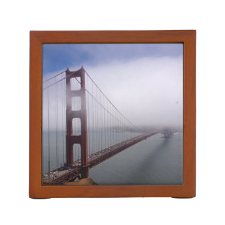 Beautiful foggy Golden Gate Bridge desk organizer Pencil/Pen Holder