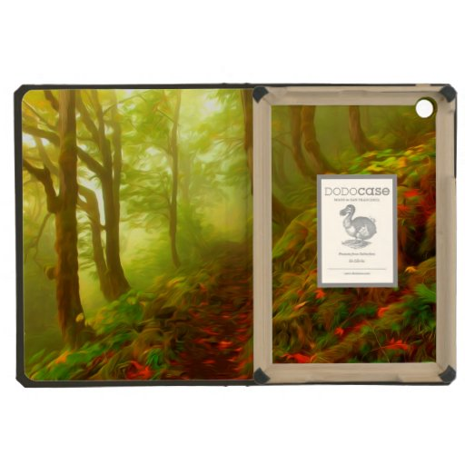 Beautiful forest with fog between trees iPad mini cover