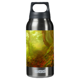 Beautiful forest with fog between trees 10 oz insulated SIGG thermos water bottle