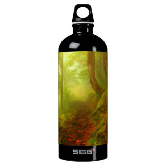 Beautiful forest with fog between trees SIGG traveler 1.0L water bottle